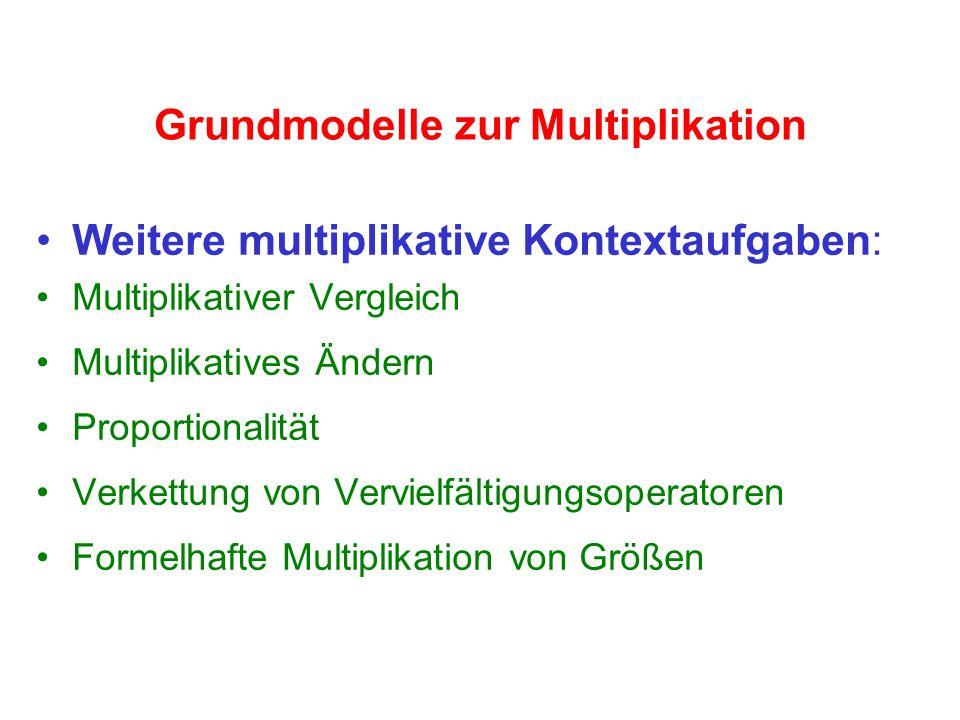 Grundmodelle zur Multiplikation