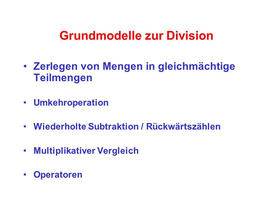 Grundmodelle zur Division