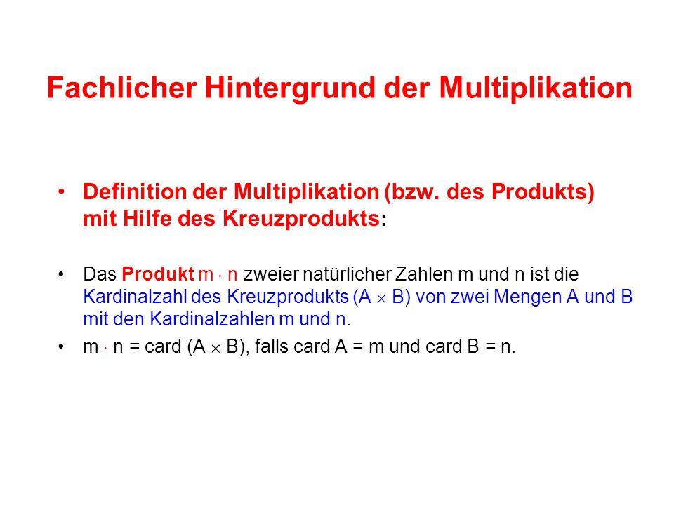 Fachlicher Hintergrund der Multiplikation