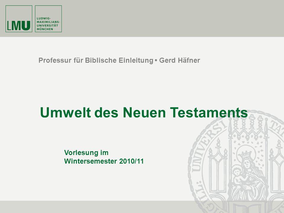 Umwelt des Neuen Testaments