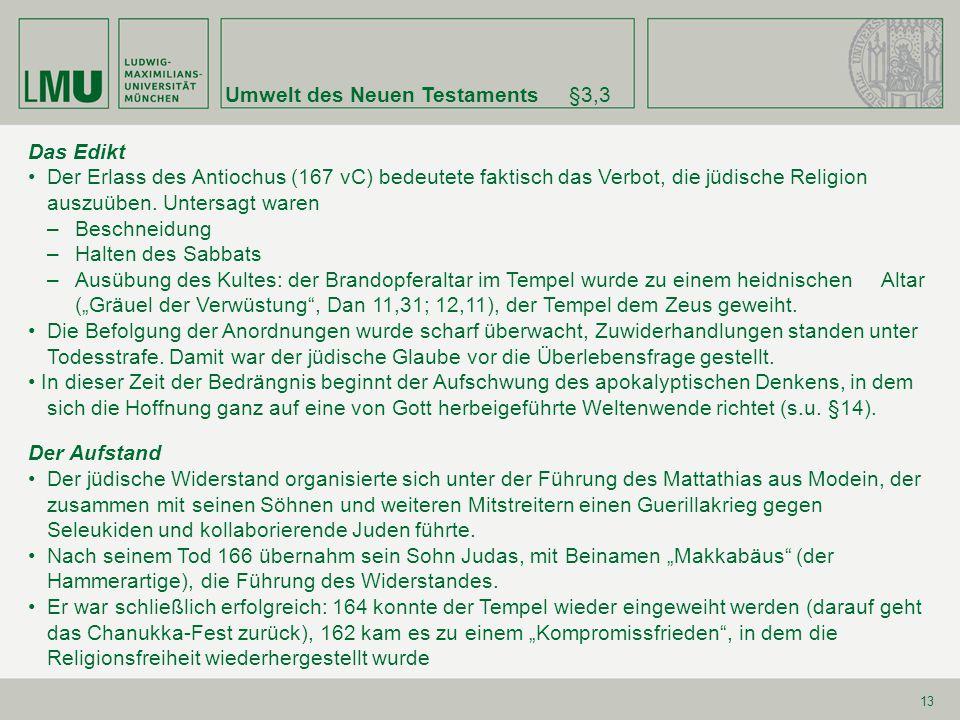 Umwelt des Neuen Testaments §3,3