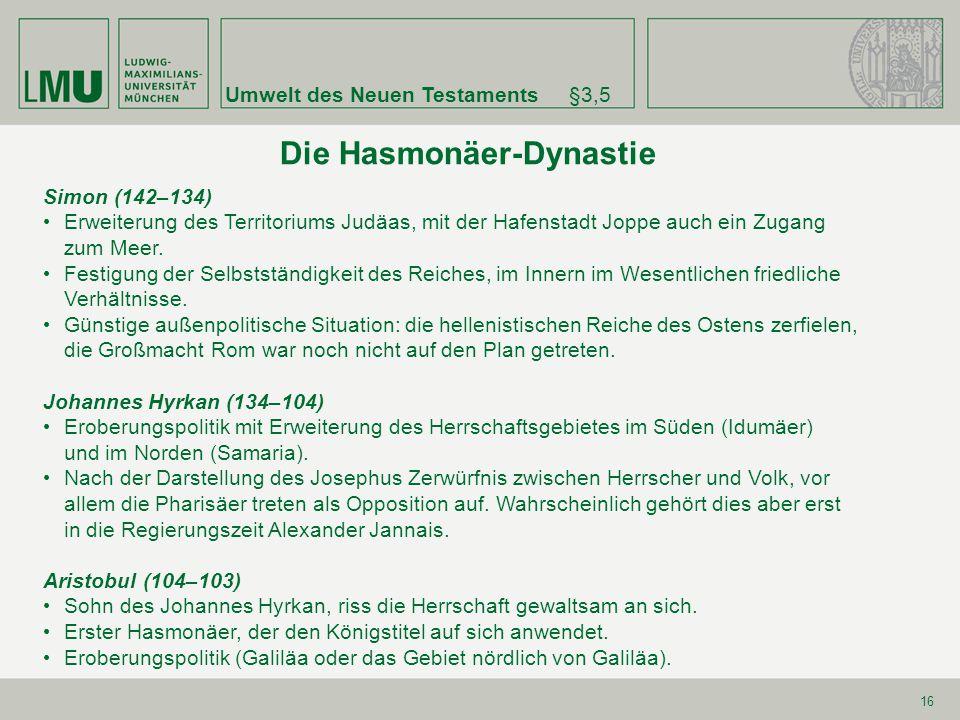 Die Hasmonäer-Dynastie