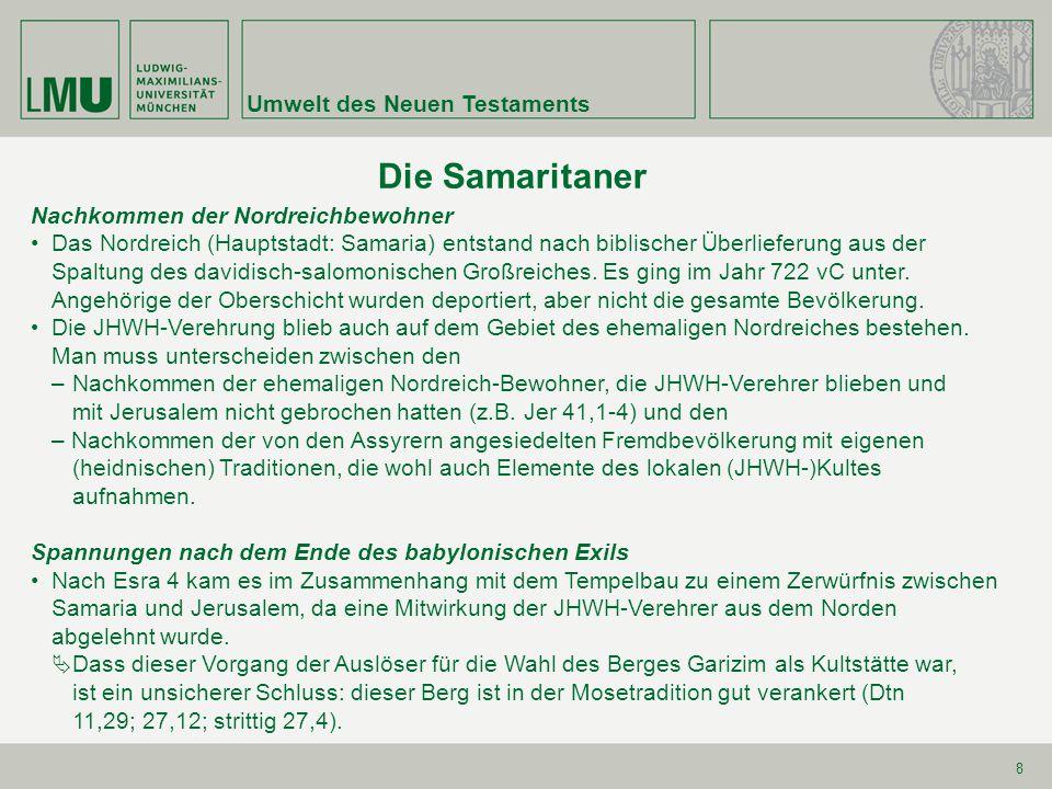 Die Samaritaner Umwelt des Neuen Testaments