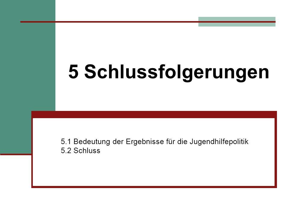 5.1 Bedeutung der Ergebnisse für die Jugendhilfepolitik 5.2 Schluss