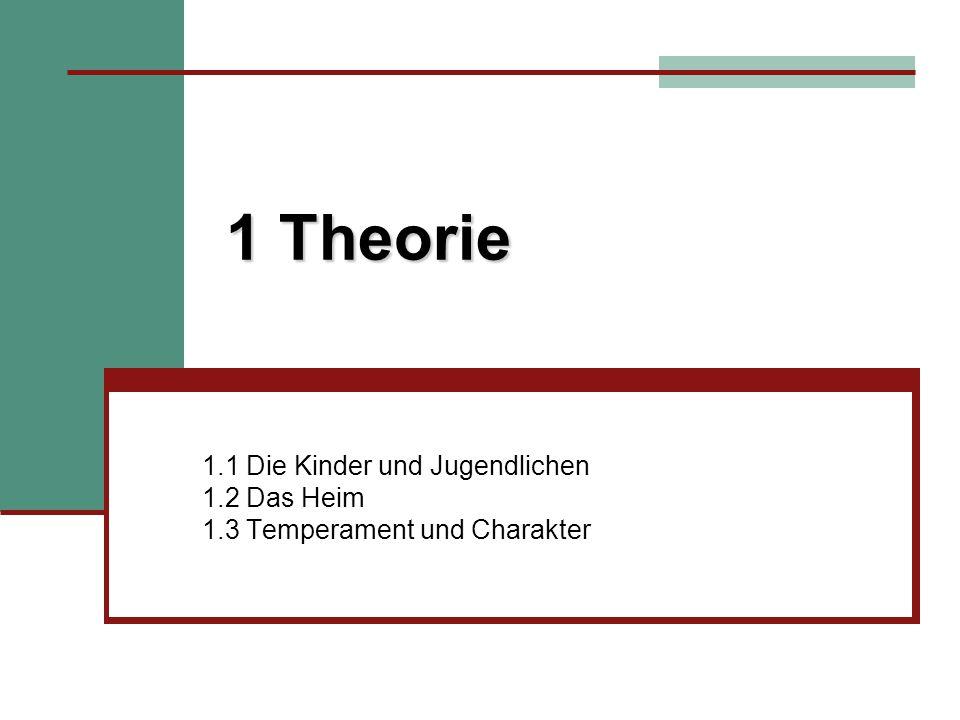 1 Theorie 1.1 Die Kinder und Jugendlichen 1.2 Das Heim