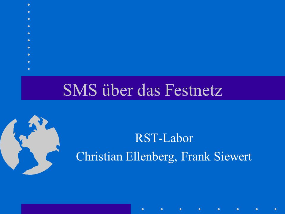 RST-Labor Christian Ellenberg, Frank Siewert
