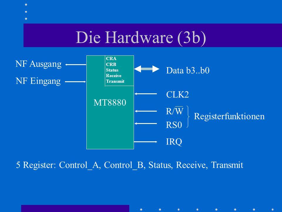 Die Hardware (3b) NF Ausgang Data b3..b0 NF Eingang MT8880 CLK2 R/W