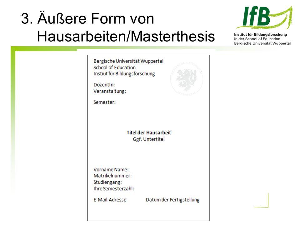 Hausarbeiten/Masterthesis