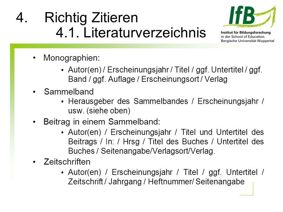 4.1. Literaturverzeichnis
