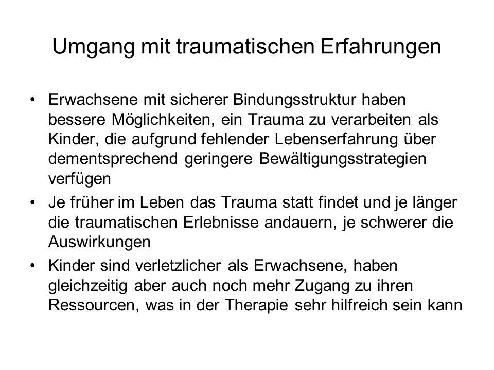 Umgang mit traumatischen Erfahrungen
