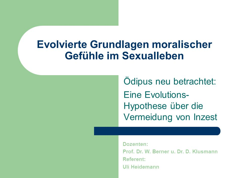 Evolvierte Grundlagen moralischer Gefühle im Sexualleben