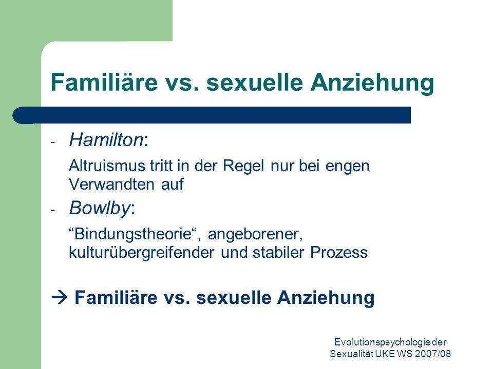 Familiäre vs. sexuelle Anziehung