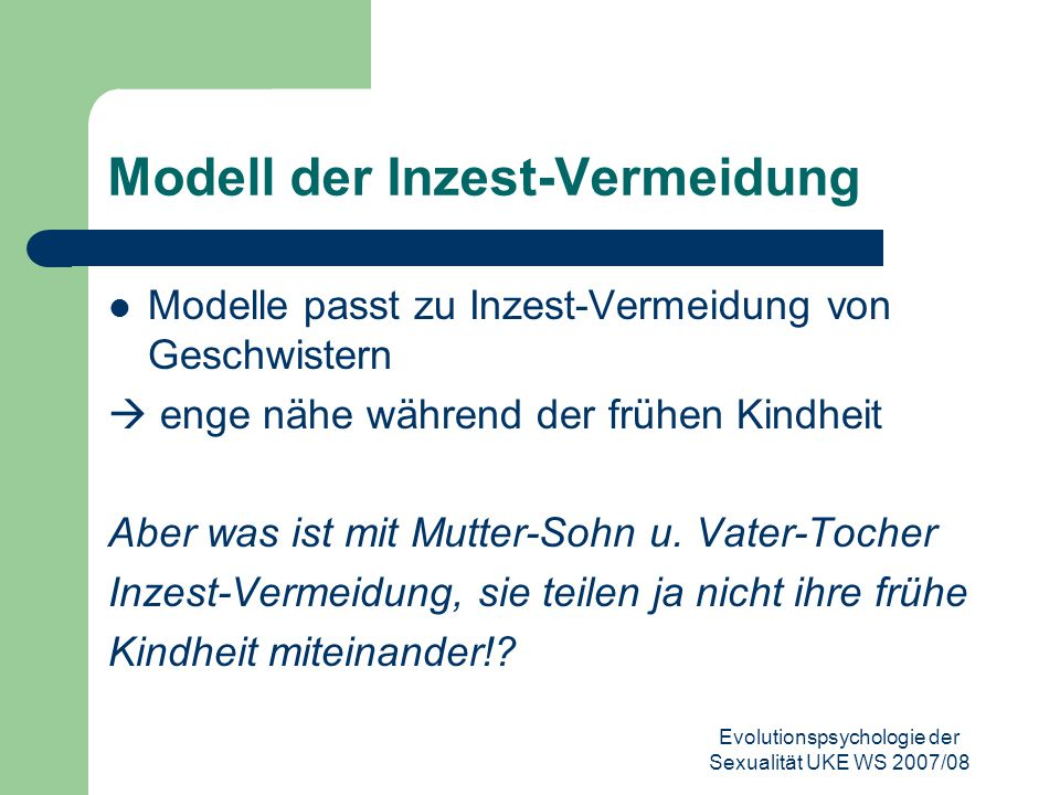 Modell der Inzest-Vermeidung
