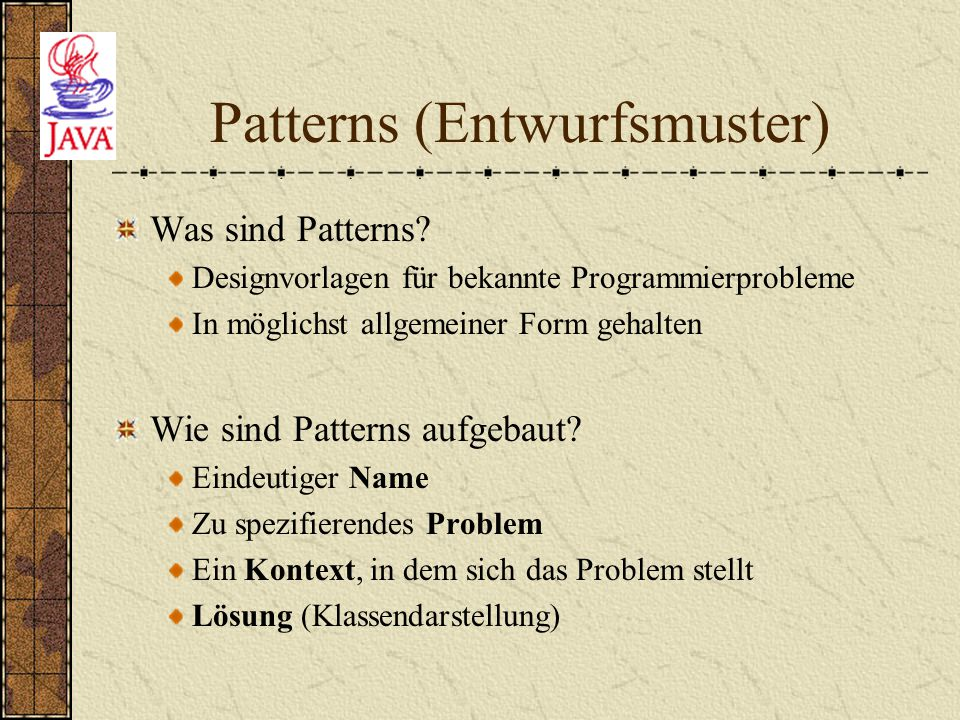 Patterns (Entwurfsmuster)