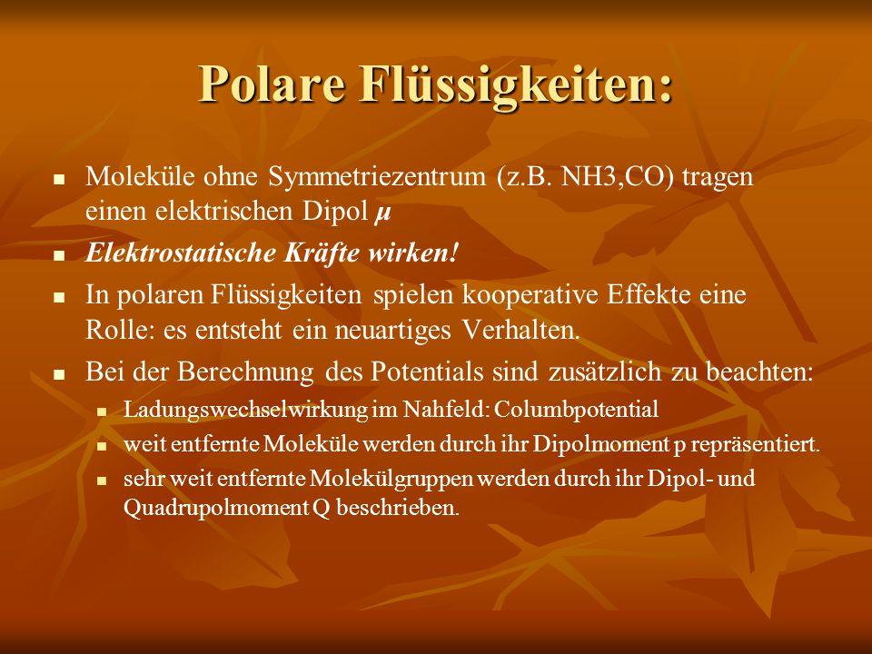 Polare Flüssigkeiten: