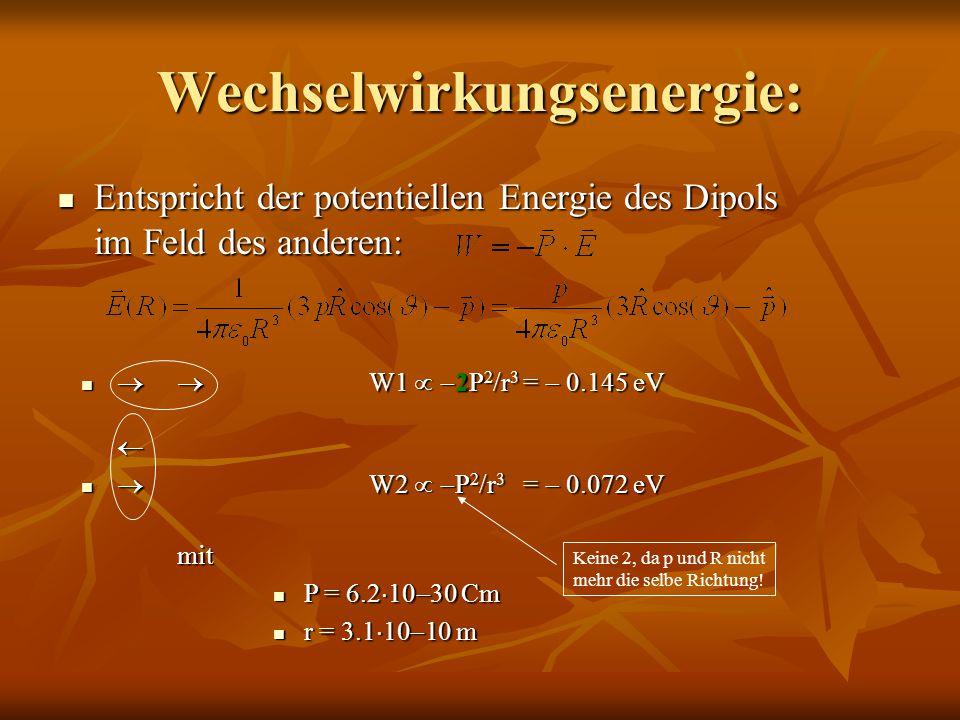 Wechselwirkungsenergie: