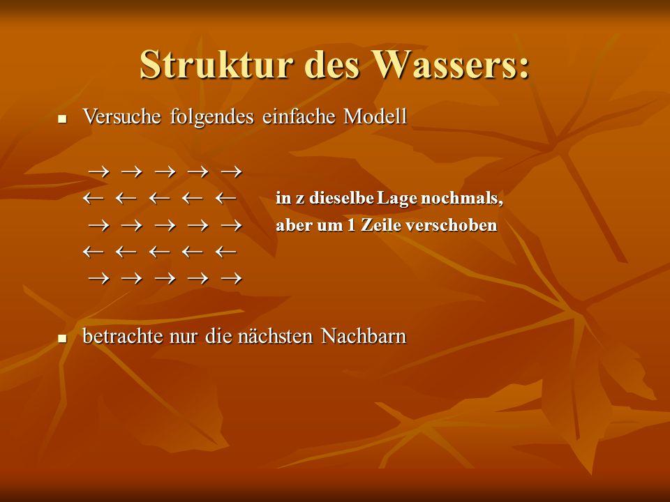 Struktur des Wassers: