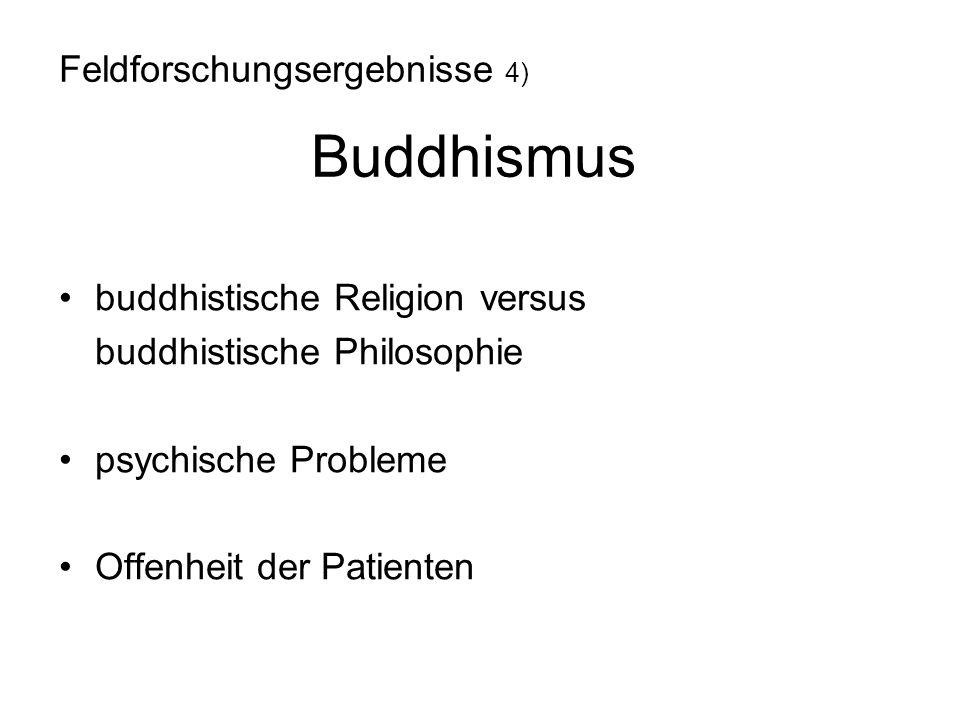 Feldforschungsergebnisse 4) Buddhismus