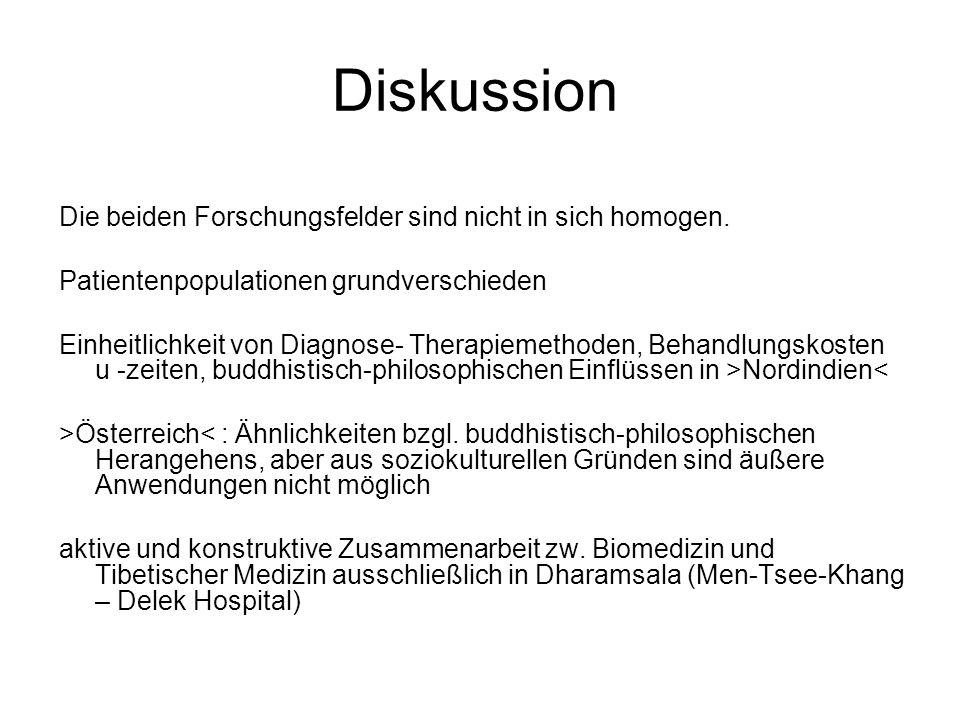 Diskussion Die beiden Forschungsfelder sind nicht in sich homogen.