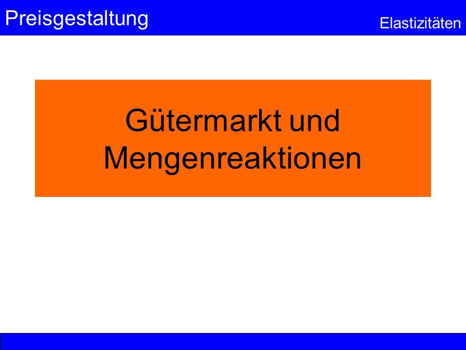 Gütermarkt und Mengenreaktionen