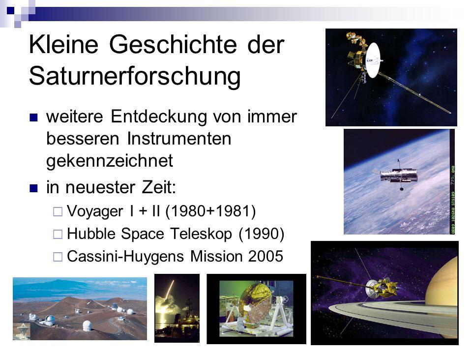 Kleine Geschichte der Saturnerforschung