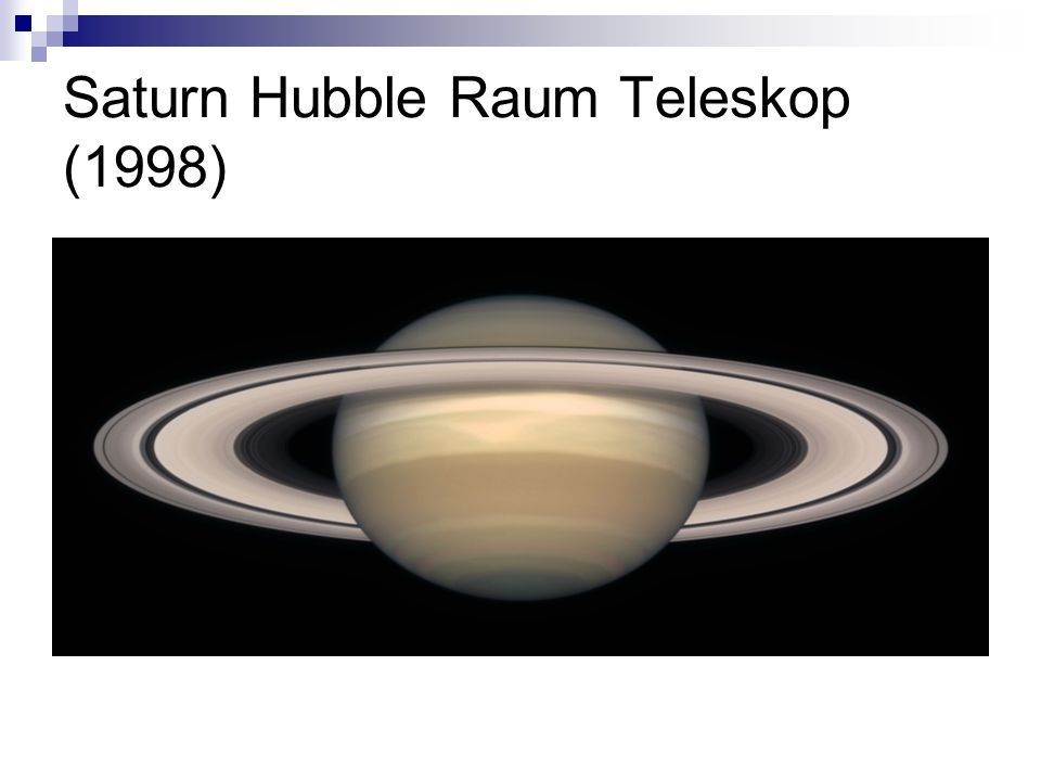 Saturn Hubble Raum Teleskop (1998)