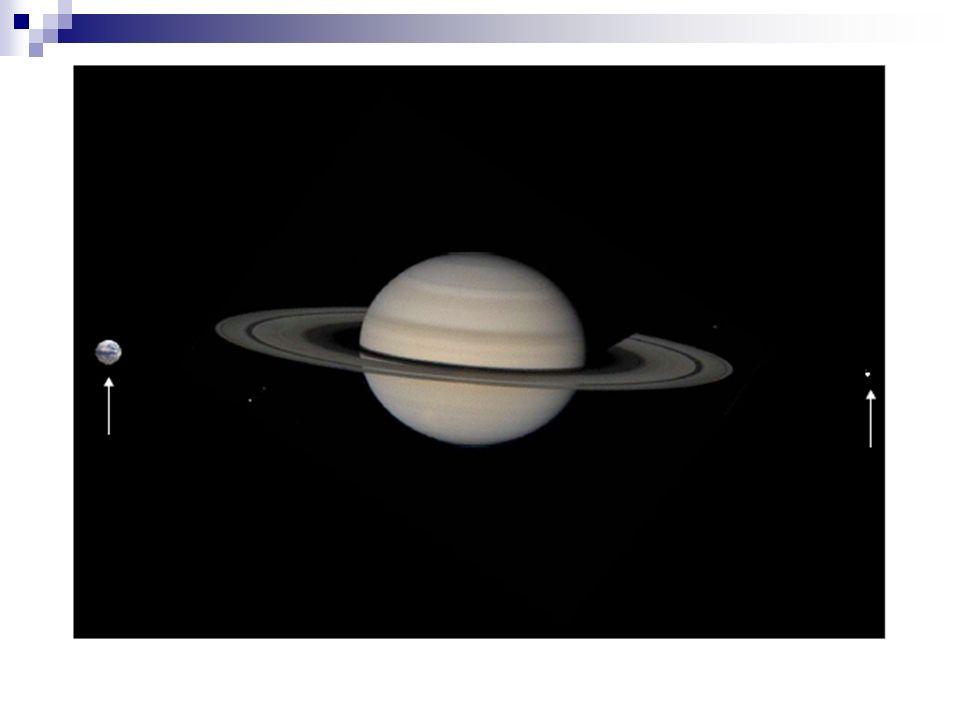 Saturn im Erde-Mond-System (Foto: NASA, ID unbekannt)