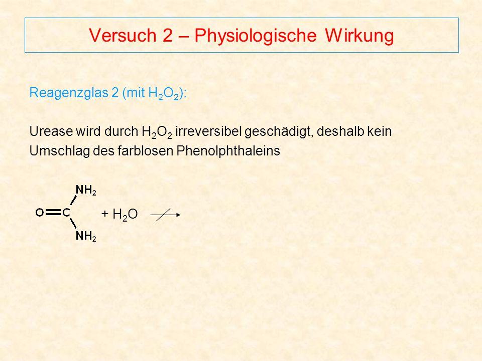 Versuch 2 – Physiologische Wirkung