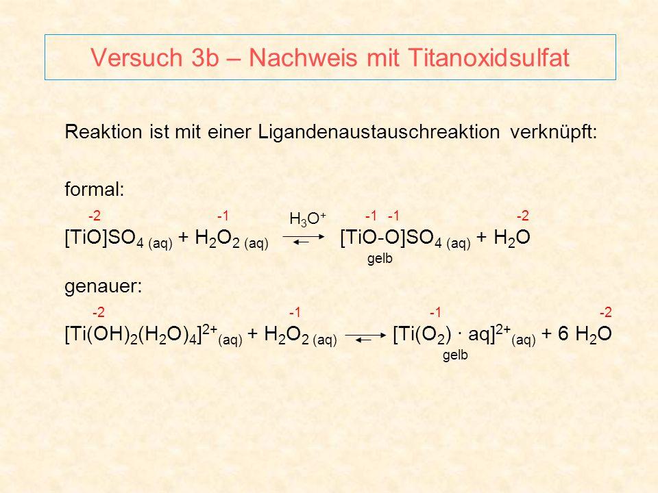 Versuch 3b – Nachweis mit Titanoxidsulfat