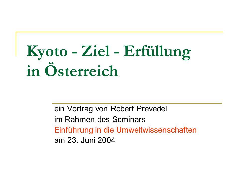 Kyoto - Ziel - Erfüllung in Österreich