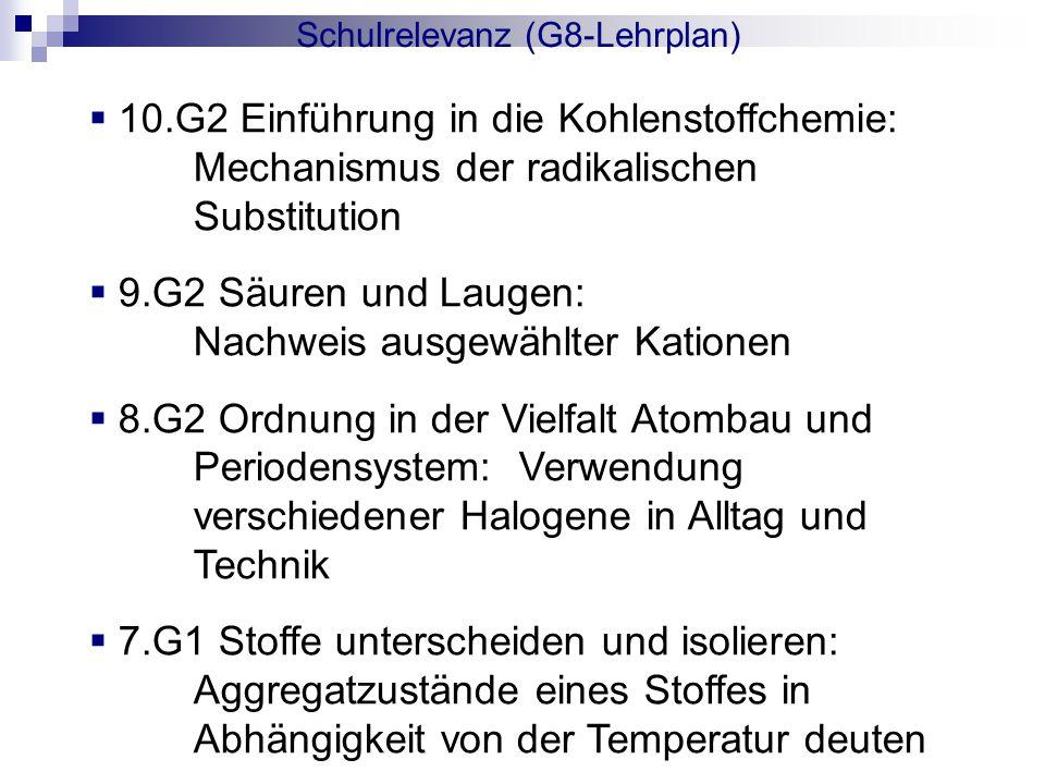 Schulrelevanz (G8-Lehrplan)