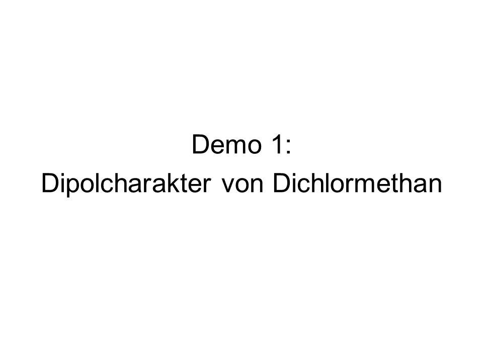 Dipolcharakter von Dichlormethan