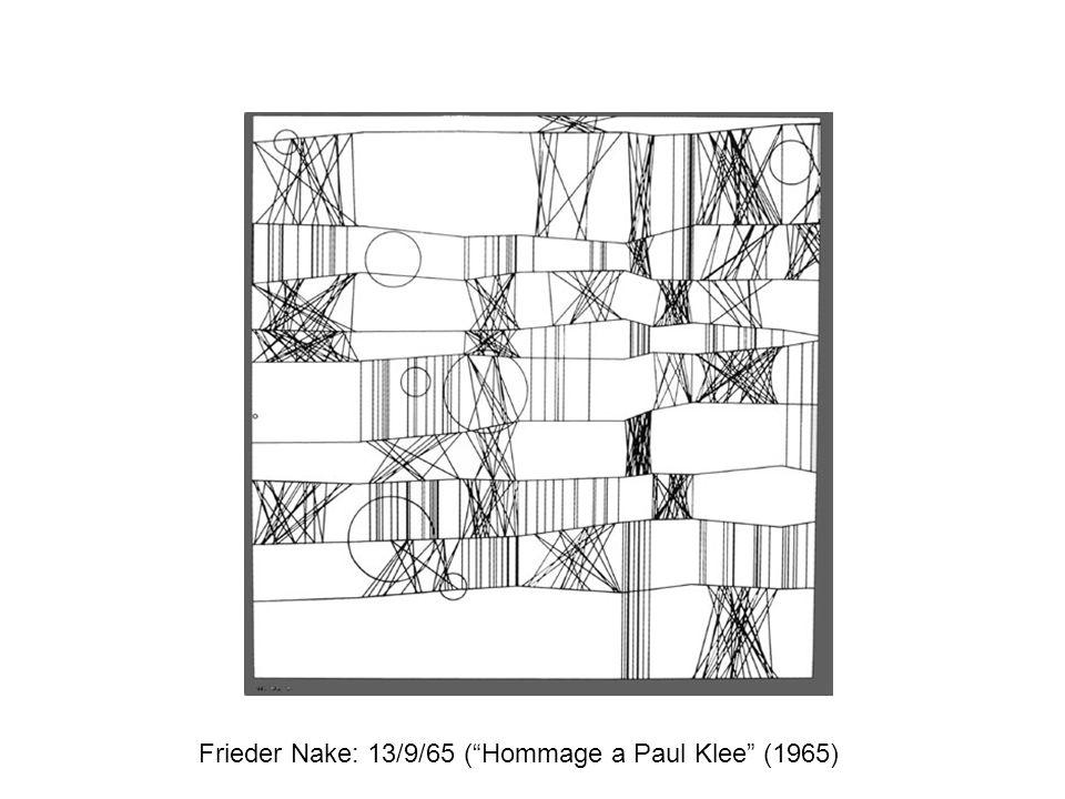 Frieder Nake: 13/9/65 ( Hommage a Paul Klee (1965)