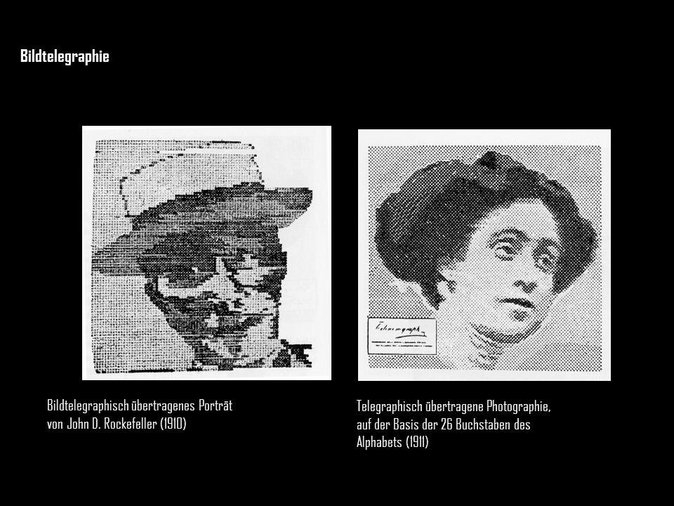 Bildtelegraphie Bildtelegraphisch übertragenes Porträt