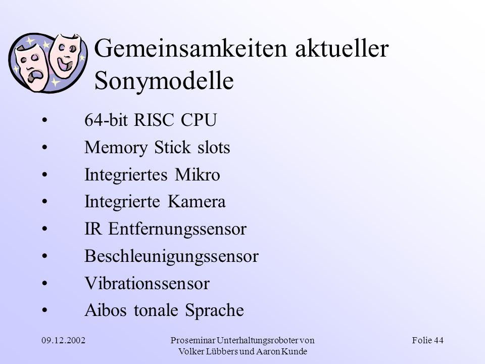 Gemeinsamkeiten aktueller Sonymodelle