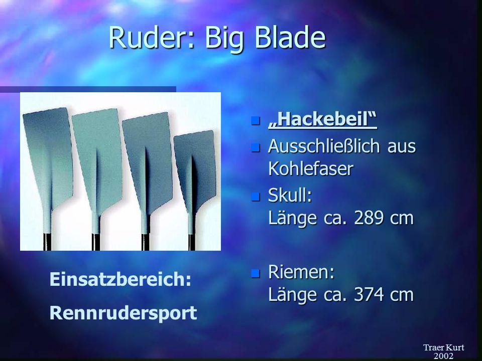 """Ruder: Big Blade """"Hackebeil Ausschließlich aus Kohlefaser"""