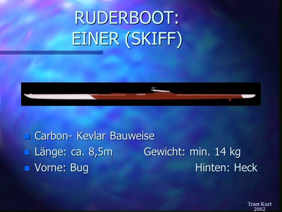 RUDERBOOT: EINER (SKIFF)
