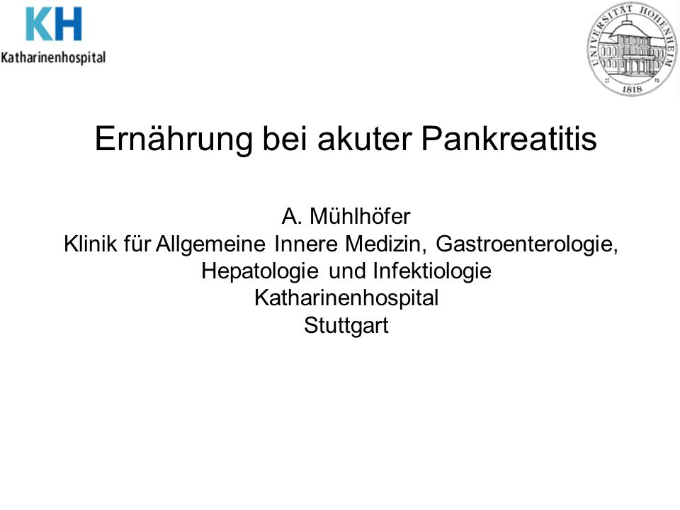 Ernährung bei akuter Pankreatitis