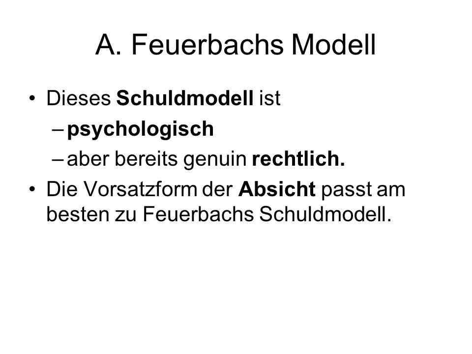 A. Feuerbachs Modell Dieses Schuldmodell ist psychologisch