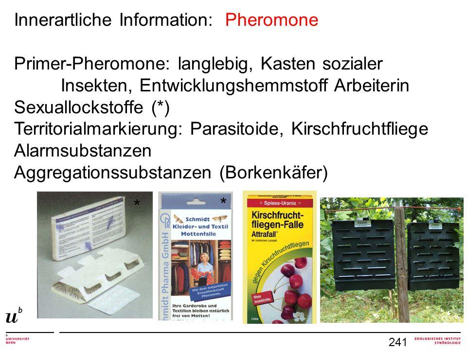 Innerartliche Information: Pheromone