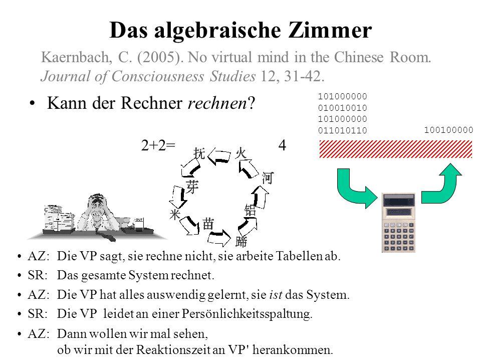 Das algebraische Zimmer