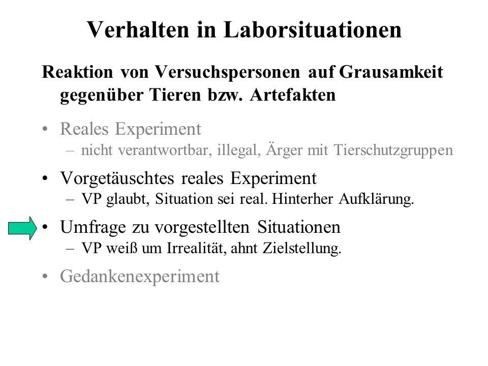 Verhalten in Laborsituationen