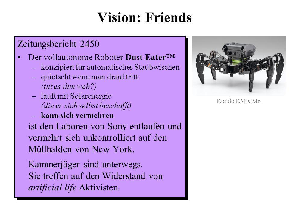 Vision: Friends Zeitungsbericht 2450 Kammerjäger sind unterwegs.