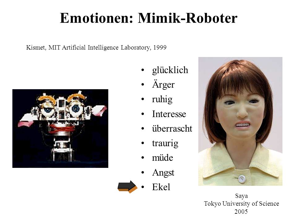 Emotionen: Mimik-Roboter
