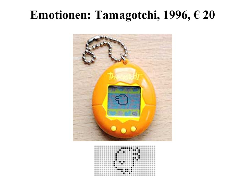 Emotionen: Tamagotchi, 1996, € 20