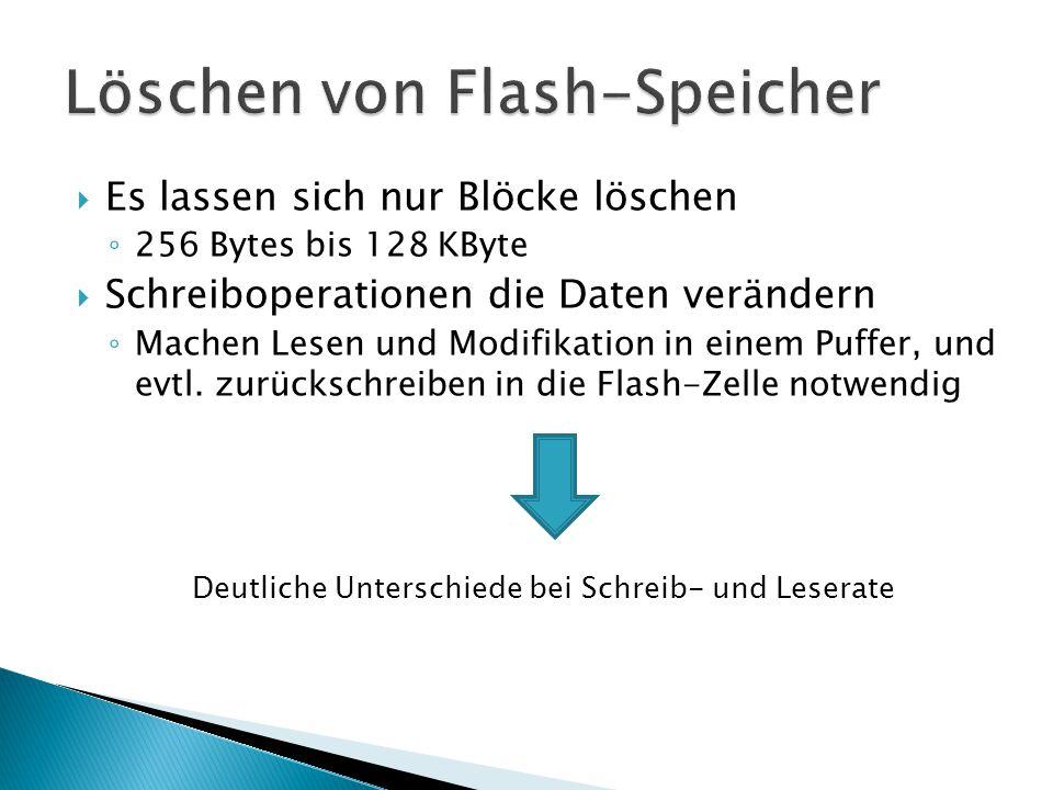 Löschen von Flash-Speicher