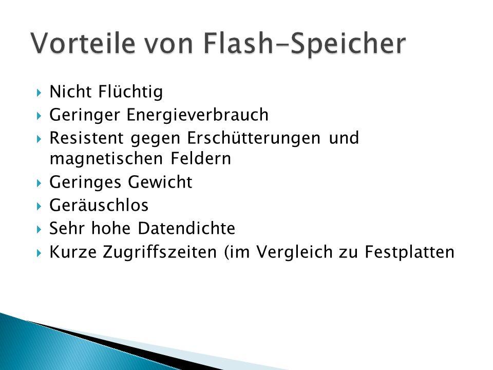 Vorteile von Flash-Speicher