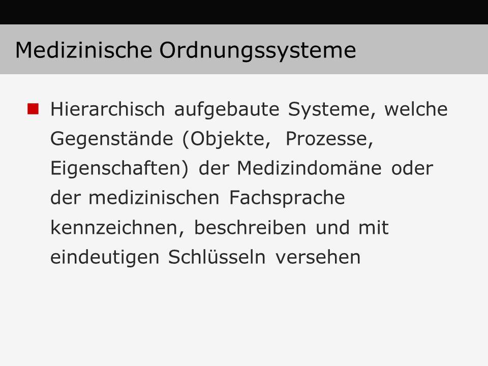 Medizinische Ordnungssysteme