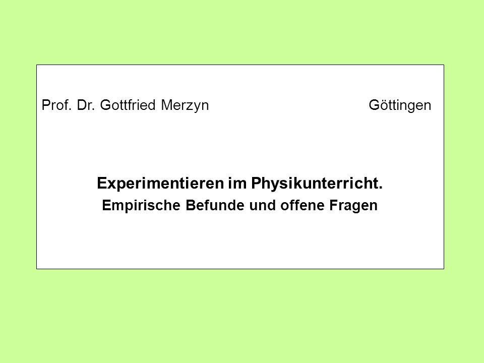 Titel Prof. Dr. Gottfried Merzyn Göttingen.