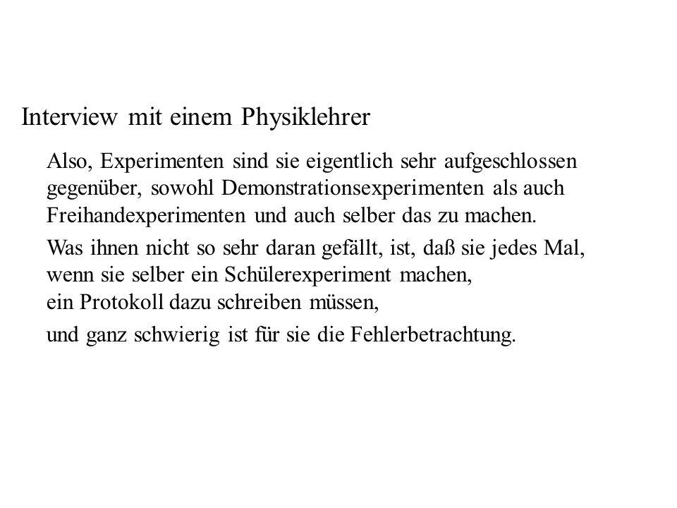 Lehrer II Interview mit einem Physiklehrer